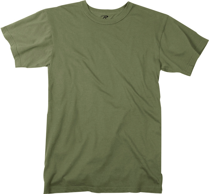 Olive Drab Plain Solid Military Heavyweight T-Shirt 175f9cfde44