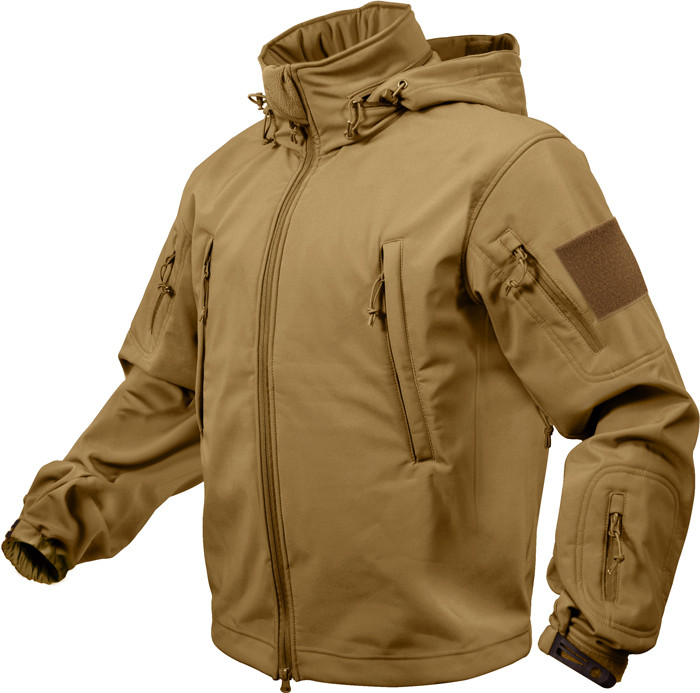 Coyote Brown Military Special Operations Tactical Soft Shell Jacket 032acb43ae0