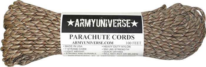 Army Universe Desert Camouflage 550LB Type III Nylon Paracord Rope 100 Feet at Sears.com