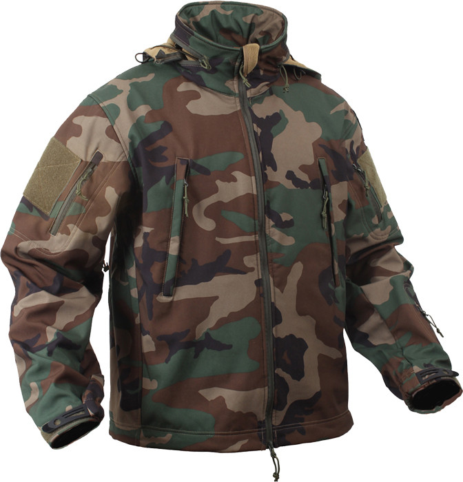 More Views. Woodland Camouflage Military Special Operations Tactical Soft  Shell Jacket 68672fe5be6
