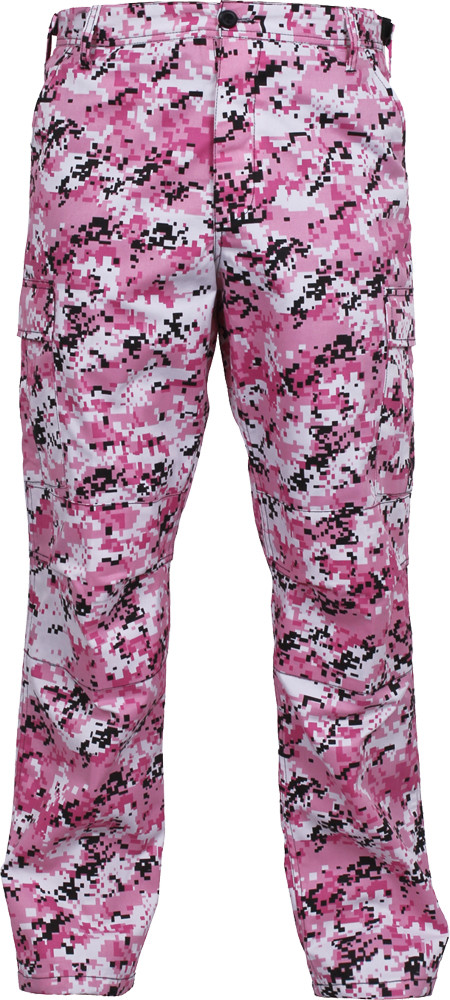 Pink Digital Camouflage Military Cargo BDU Fatigue Pants d528ac97fc8