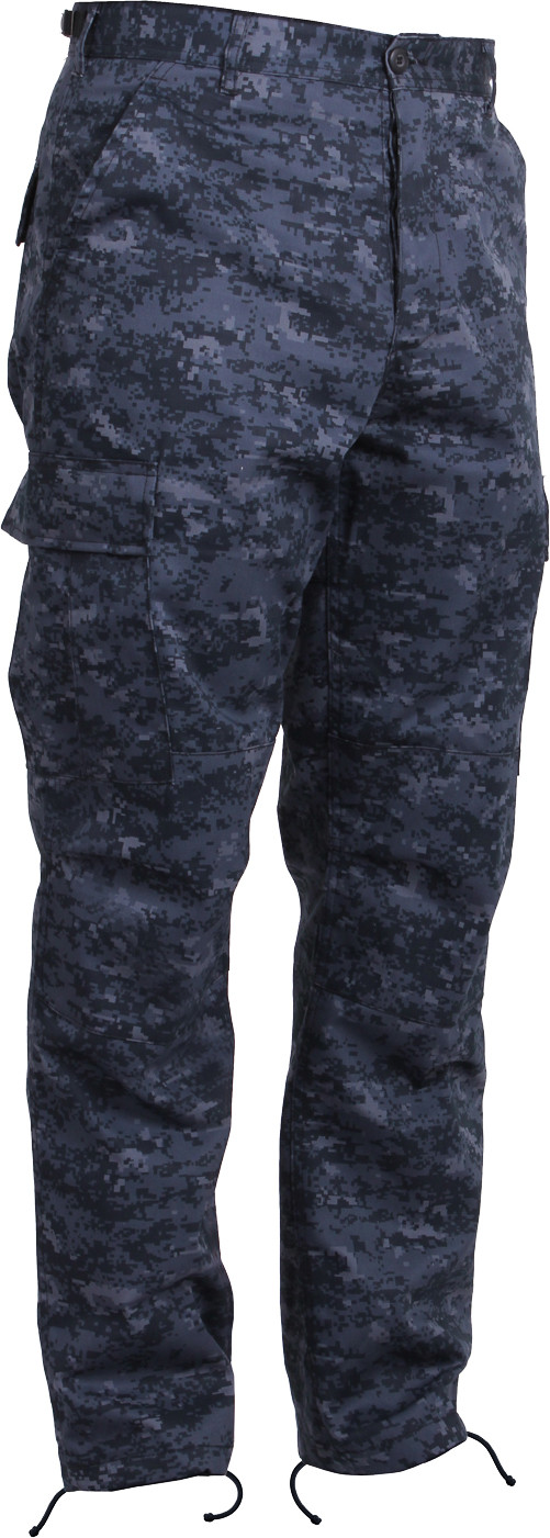 Midnight Digital Camouflage Military Cargo BDU Fatigue Pants 7e68cec4877