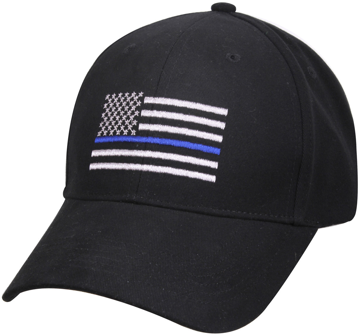 Black Thin Blue Line American Flag Support The Police Low Profile Cap 4ee94d28386