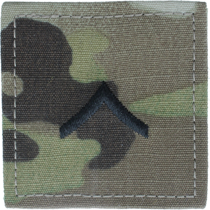 Multicam OCP Camo Rank Insignia Patch Ripstop US Made Military Camouflage Army