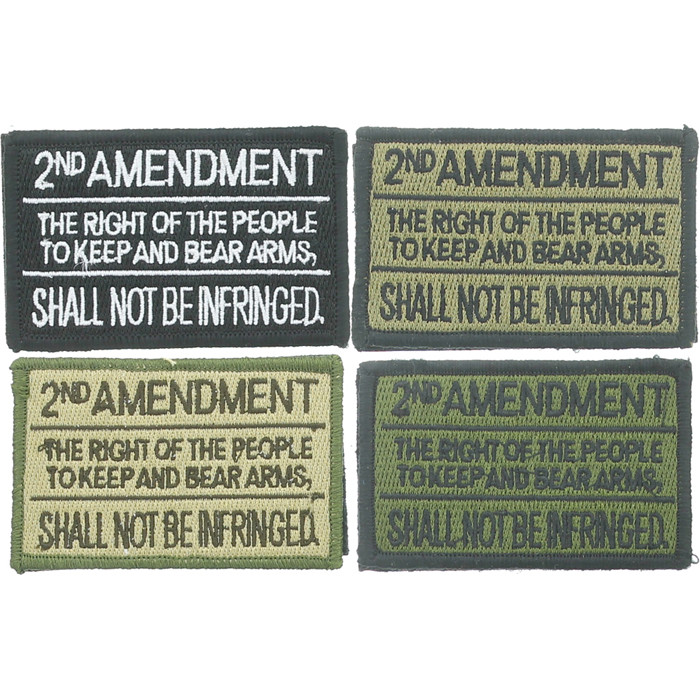 "3/"" 2nd Second Amendment Right of the People to Keep and Bear Arms Morale Patch"