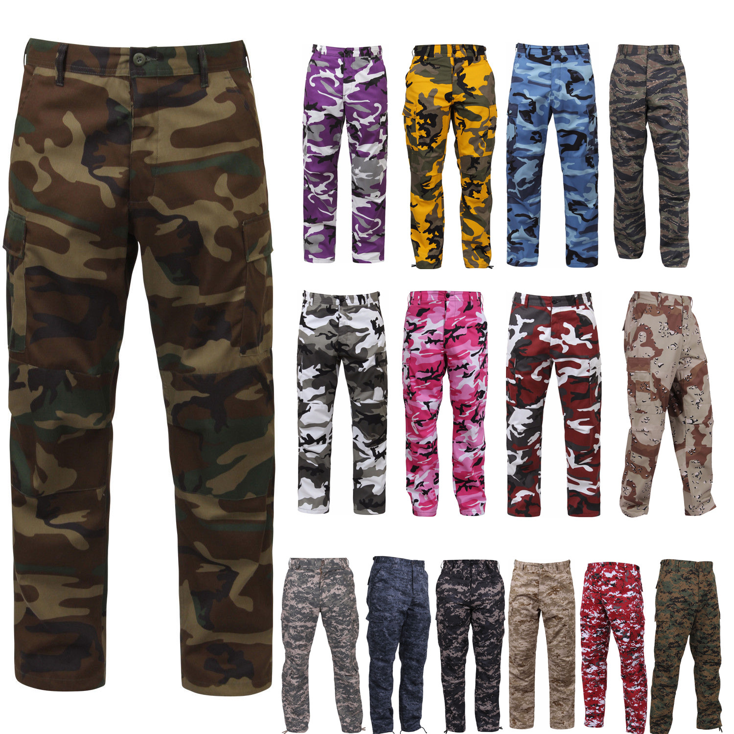 More Views. Digital Camo Tactical BDU Pants 63851ae466d