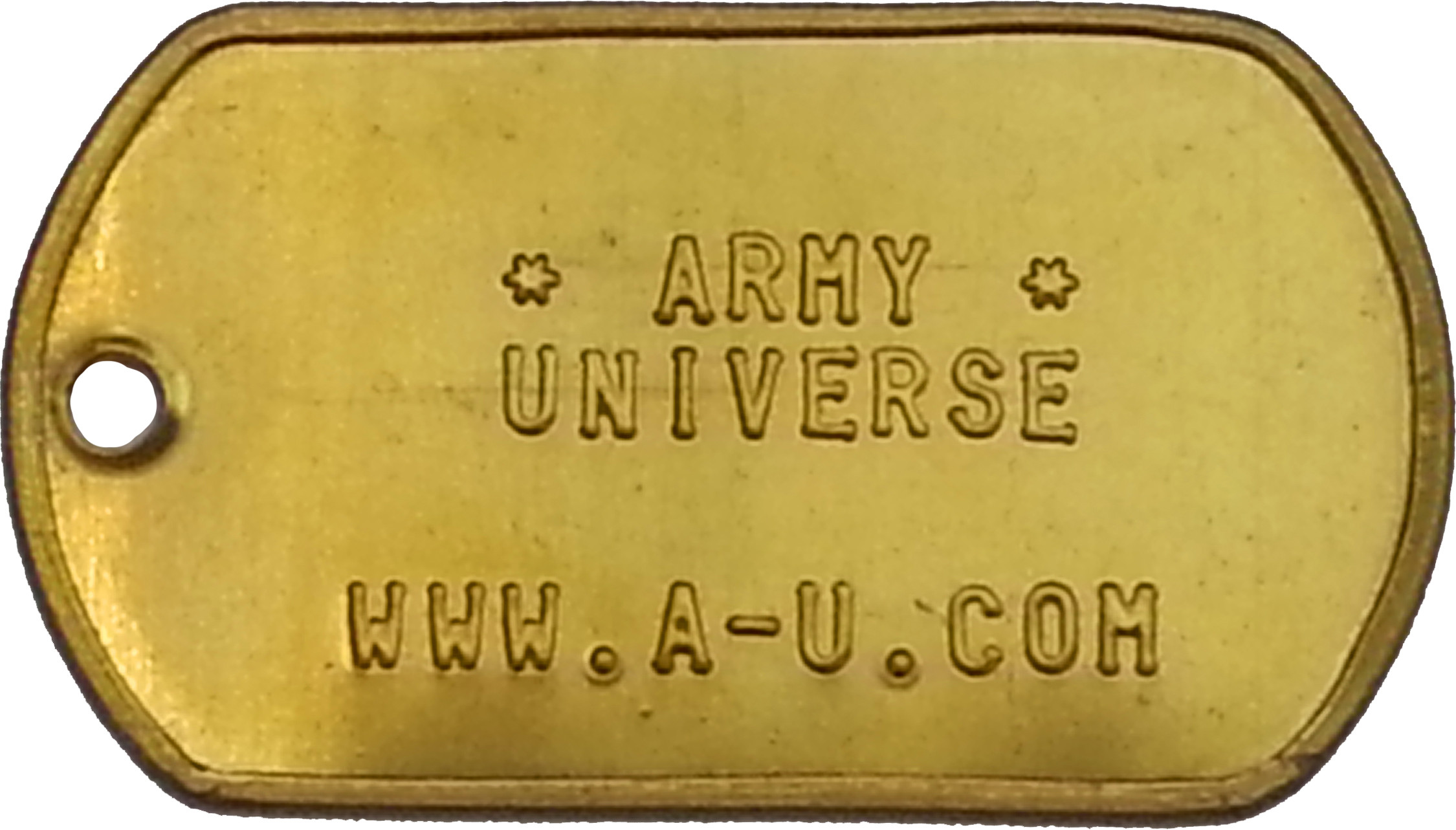 Solid Brass Custom Embossed ID Tag Military Style Dog Tag fd40736a61e