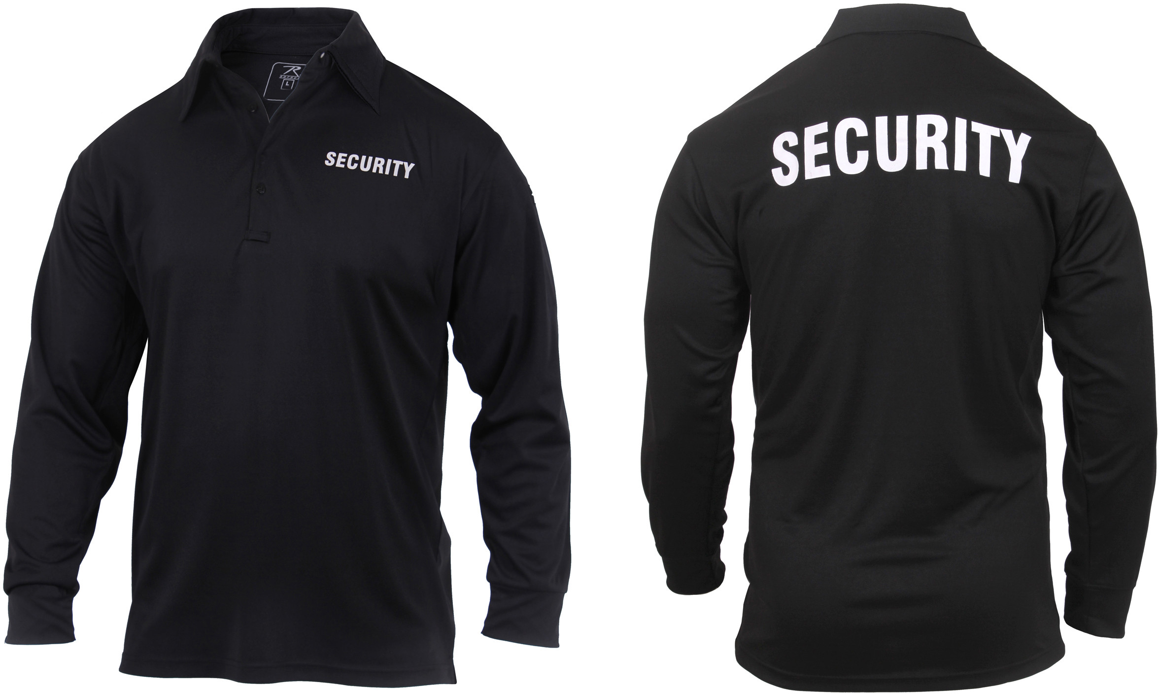 Moisture Wicking Long Sleeve Security Polo c70977afa0f