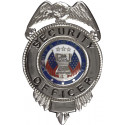 Silver SECURITY OFFICER Liberty & Justice Badge