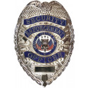 Security Enforcement Officer Deluxe Badge - Silver
