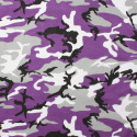 "Purple Camouflage Cotton Military 27"" x 27"" Jumbo Bandana"