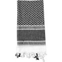 White & Black Shemagh Heavyweight Arab Tactical Desert Keffiyeh Scarf