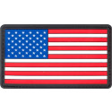 Red White & Blue PVC US American Velcro Flag Patch