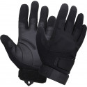 Black Military Padded Low Profile Tactical Shooting Gloves