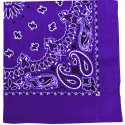 "Purple Trainmen Cotton Paisley Sport 27"" x 27"" Bandana Biker Headwrap"