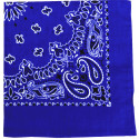 "Royal Blue Trainmen Cotton Paisley Sport 27"" x 27"" Bandana Biker Headwrap"
