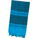 Blue & Black Shemagh Lightweight Arab Tactical Military Desert Keffiyeh Scarf