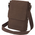 Brown Vintage Military Canvas Tactical Tech iPad Shoulder Bag