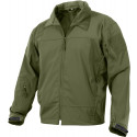 Olive Drab Tactical Covert Operations Lightweight Soft Shell Jacket