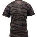 Tiger Stripe Camouflage Military Short Sleeve T-Shirt