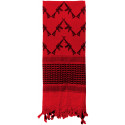 Red Shemagh Arab Tactical Desert Keffiyeh Scarf w/ Crossed Rifles
