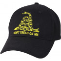 Black Don't Tread On Me Low Profile Adjustable Cap