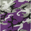 "Dozen - Purple Camouflage Military 22"" x 22"" Cotton Bandana 12 Pack"