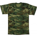Woodland Camouflage Heavyweight Military Short Sleeve T-Shirt