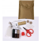 Military Sewing Repair Kit in Coyote Compass Pouch