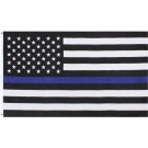 Subdued Thin Blue Line Flag Support The Police American Flag 3' x 5'