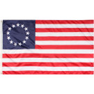 "Red White & Blue Colonial Design American Flag 3"" x 5"""