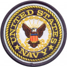 United States Navy Round Patch (3 Inches)