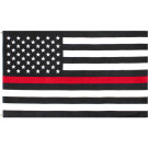 Subdued Thin Red Line Flag Support Firefighters American Flag 3' x 5'