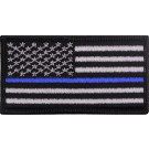 Thin Blue Line US Flag Hook & Loop Patch