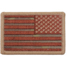 "Multi Cam Reverse American US Flag Iron On Patch 2"" x 3"""