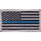 Thin Blue Line Police Pride Velcro USA Flag Patch