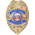 Gold Plated Deluxe Special Police Pin Back Badge