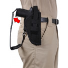 Black Tactical Law Enforcement Holster Pistol Iron Lanyard