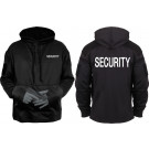 Black Double Sided Security Concealed Carry Tactical Hooded Sweatshirt