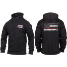 Black Concealed Carry Subdued Thin Red Line Hoodie Sweatshirt
