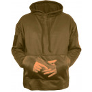 Coyote Brown Concealed Carry Tactical Hooded Sweatshirt