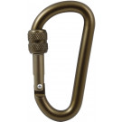 Coyote Brown Professional Aluminum Alloy 80mm Locking Carabiner