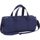 Navy Blue Canvas Sports Gym Duffle Shoulder Carry Bag