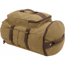 "Convertible 19"" Canvas Duffle/Backpack - Coyote & Brown"