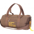 Brown Canvas Equipment Duffle Carry Shoulder Bag
