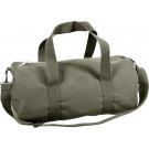 Olive Drab Canvas Sports Gym Duffle Shoulder Carry Bag & Strap