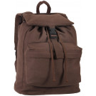 Earth Brown Military Heavyweight Canvas Day Pack Backpack