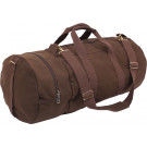 Earth Brown Double-Ender Canvas Sports Duffle Shoulder Bag