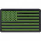 Olive Drab & Black USA American Flag PVC Hook Patch
