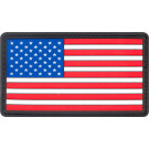 Red White & Blue PVC US American Hook Flag Patch